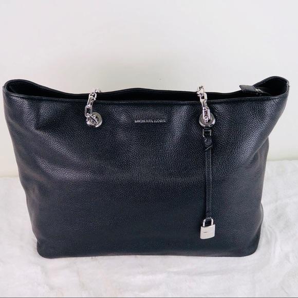 f72f3cec9d93 MICHAEL Michael Kors Bags | Michael Kors Mercer Chain Link Leather ...